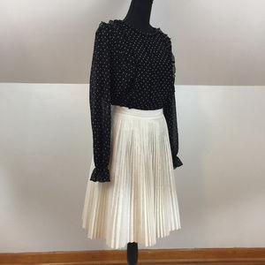 Banana Republic Ivory Accordian Pleated Skirt